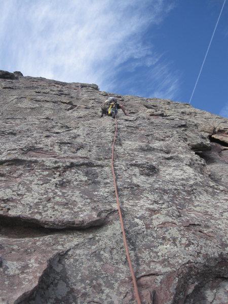 Rock Climbing Photo: Climbing up the Third Flatiron