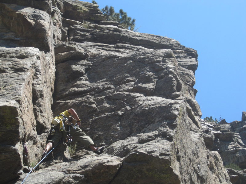 Rock Climbing Photo: Trad Climb, 5.6 in Clear Creek