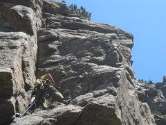 Rock Climbing Photo: Trad Climb, 5.6 in Clear Creek
