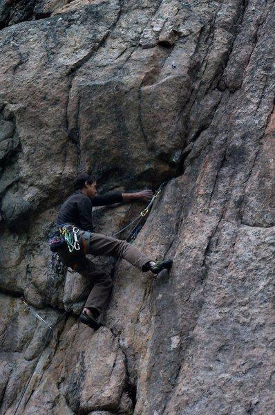 Rock Climbing Photo: Pumpy finish. .