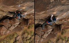 Rock Climbing Photo: Don't let go!!