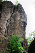Rock Climbing Photo: Most of the entire left side of the formation is v...
