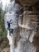 Rock Climbing Photo: Sizzle on The Puke Stain, 5.11c The Hangover Wall,...