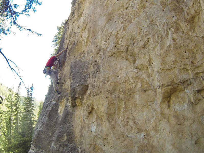 Rock Climbing Photo: At the first crux.