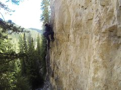 Rock Climbing Photo: Harrison makes the moves after the rest at one of ...