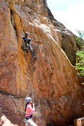 Rock Climbing Photo: Just past 2nd bolt on New Beginnings.