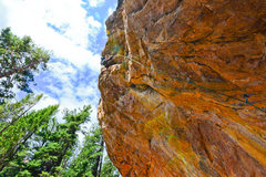 Rock Climbing Photo: Past the 3rd bolt and into the trad lands.