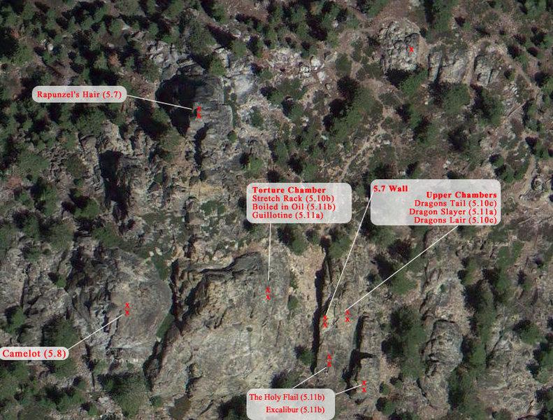 Rock Climbing Photo: Castle Rock from waaaay above