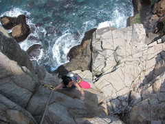 Rock Climbing Photo: Liting Huang polishing it off  The Dragon Pool is ...