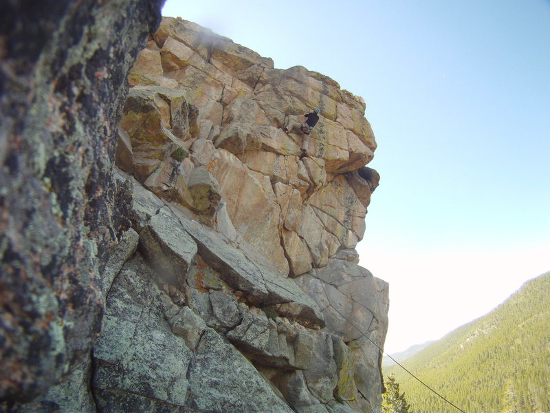 """""""Uplift MoFo Party Plan"""", moving toward the anchor, after the crux, great route!"""