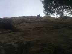 Rock Climbing Photo: Heading up the first pitch of Unimpeachable Gropin...