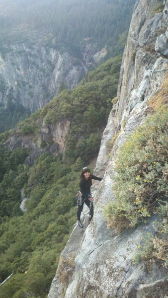 Rock Climbing Photo: On Reed's Direct; one of my favorites...