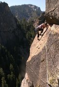 Rock Climbing Photo: Oh yeah, gotta love traverses; Higher Cathedral Sp...