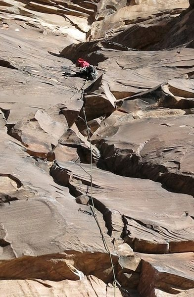 Rock Climbing Photo: on the first pitch of Levitation