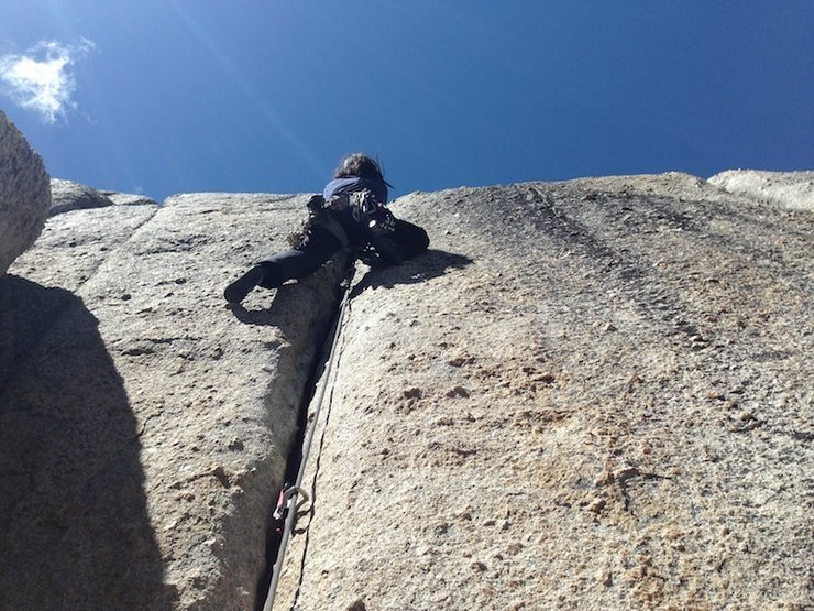 Rock Climbing Photo: climbing with Rosa (on lead) at the Alimony Cracks...