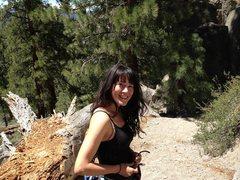 Rock Climbing Photo: Smiley at The Alcove; Clark Canyon