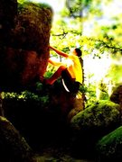 Rock Climbing Photo: Getting ready for the big move on Eli's problem. W...