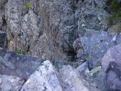 Rock Climbing Photo: Local climber looking down pitch 5.  The dude is t...