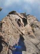 Rock Climbing Photo: J. Howland at the advertised crux. June '13.  Dan ...