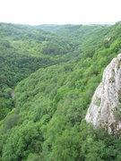 Rock Climbing Photo: Looking down-canyon toward the Belidie Inn parking...