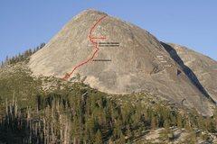 Rock Climbing Photo: Topo - from qigongclimber on supertopo