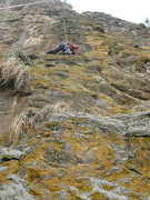 Rock Climbing Photo: Local climber, Wondessen tries to be a hero!