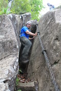 Rock Climbing Photo: Chimney #1. If you trust the ropes, this is 4th cl...
