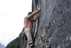 Rock Climbing Photo: Starting up P1 of Gods Bones