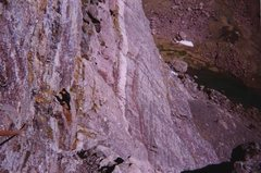 Rock Climbing Photo: Escaping the Direct Start after 1 pitch (yes, it i...