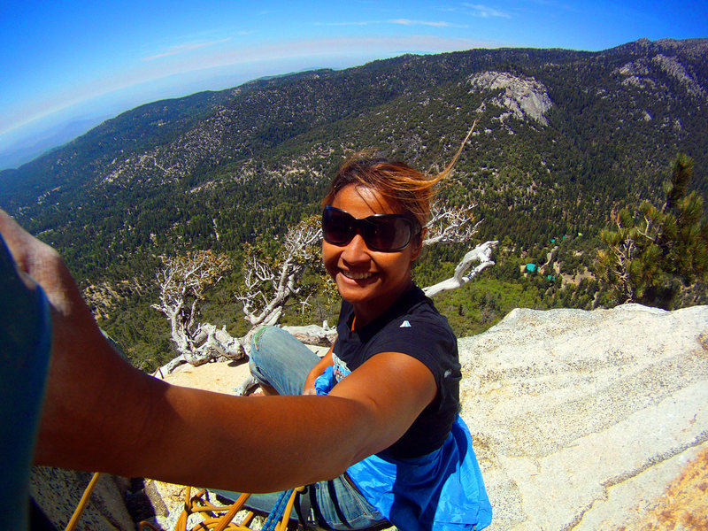 1st time climbing fingertrip on May 16, 2013! @ Lunch Ledge after leading the 1st and 3rd pitch. Super stoked!! WOOHOOO!!
