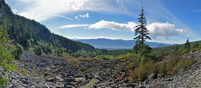 This is a panorama I stitched together showing the landscape below Jimmy Cliff.  Beautiful area.<br> <br> <br> Chad