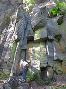 Rock Climbing Photo: The start can been seen slightly right of center a...