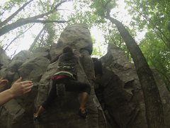 Rock Climbing Photo: Cfresh working on it