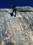 Rubin at the top of his first 5.9 outdoor climb