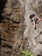 Rock Climbing Photo: Working up the Arete
