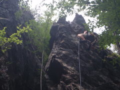 Rock Climbing Photo: Getting to the finish.. like a frog