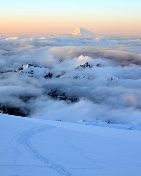 Mt Adams as seen from Camp Muir
