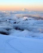 Rock Climbing Photo: Mt Adams as seen from Camp Muir