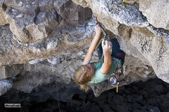 "Rock Climbing Photo: Robyn climbing ""The Warm-Up"" 5.10d at th..."
