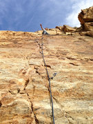 Rock Climbing Photo: Redpoint of Pink Canoe, 5.10a, Black Rose
