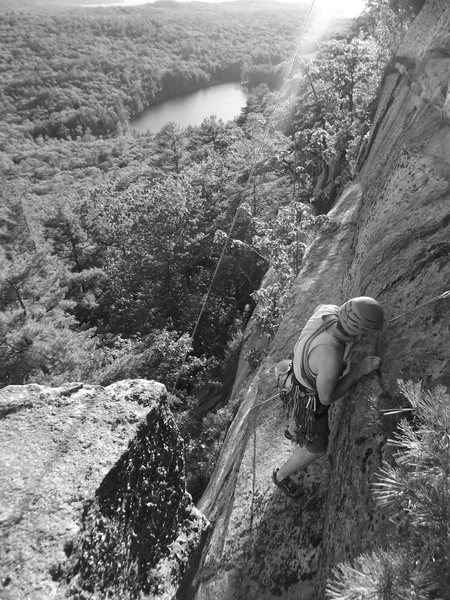 Rock Climbing Photo: Jason Denver on his new route