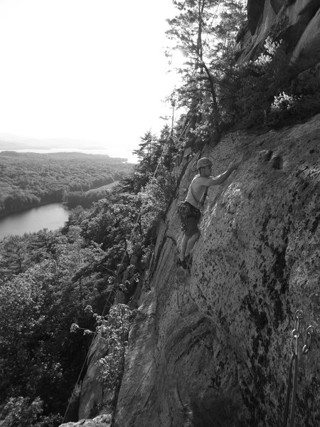 Rock Climbing Photo: Last head wall on the second pitch