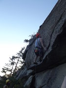 Rock Climbing Photo: Jay getting to the crux on the third pitch