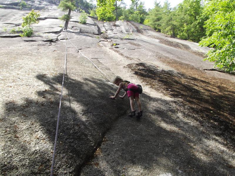 Rock Climbing Photo: MacKenzie starting up