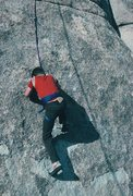 Rock Climbing Photo: My 10 year old (in 1985!) son over the crux start ...