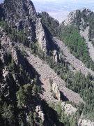 Rock Climbing Photo: Upper La Cueva Canyon looking southwest