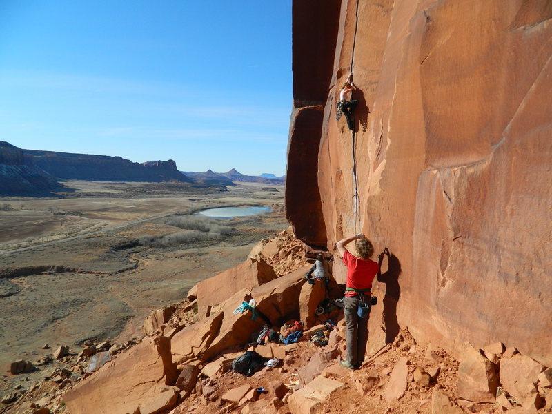 Rock Climbing Photo: Scarface -- Indian Creek, UT