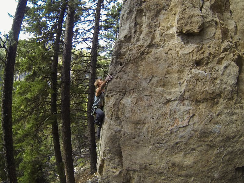 Rock Climbing Photo: Jamie on Let Me Ride, 5.12a
