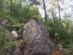 Rock Climbing Photo: Cfresh Top out goofy facing it up