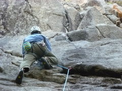 Rock Climbing Photo: Glen on a lap.